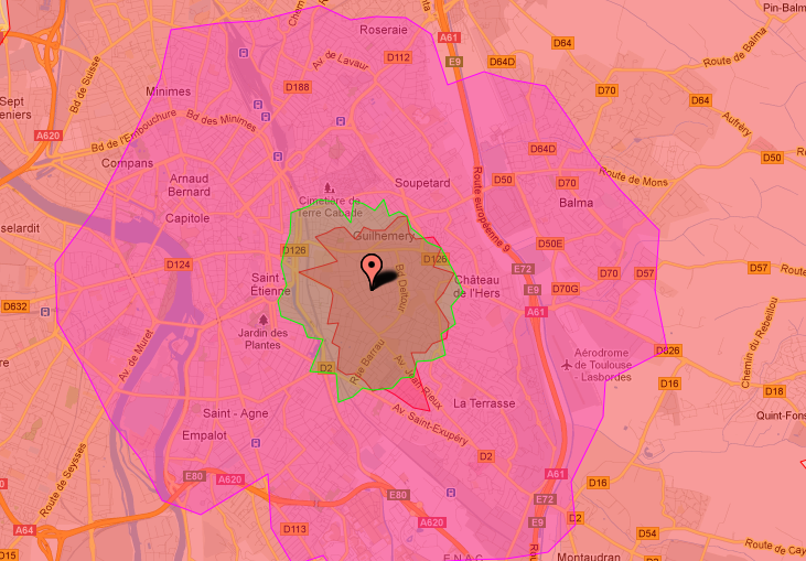 Isochrone-Toulouse